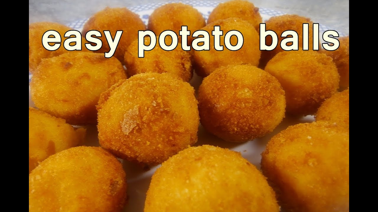 FRIED POTATO BALLS - Tasty and Easy Food Recipes For Dinner to make at home
