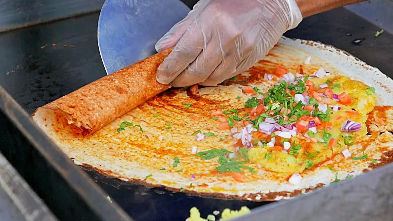 INDIAN MASALA DOSA and Young Coconut Water