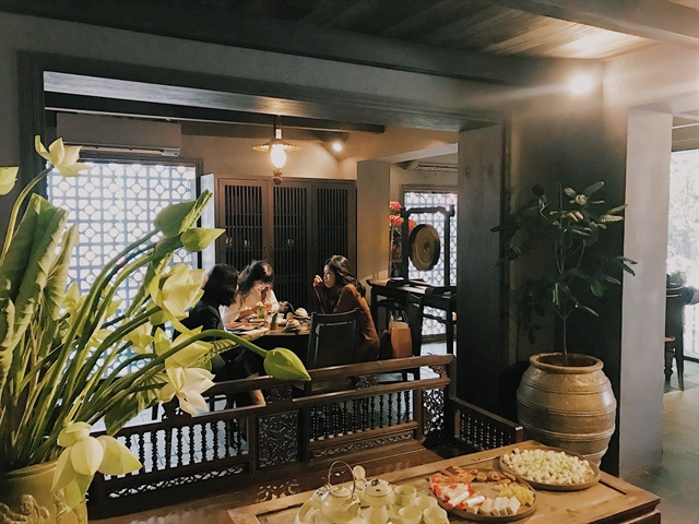 COMFORTABLE: Tầm Vị is a perfect replica of an old house of the Red River Delta in the old days. Photo courtesy of Tầm Vị